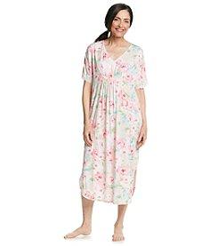 Miss Elaine® Pink Floral Caftan