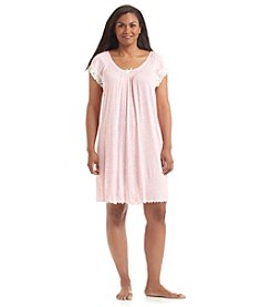 Miss Elaine® Plus Size Pink Animal Print Nightgown