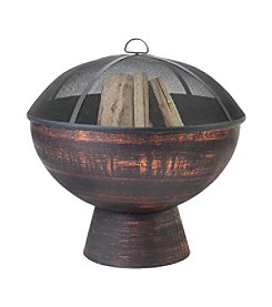 Good Directions® 26-Inch Oil Rubbed Bronze Fire Bowl with Spark Screen