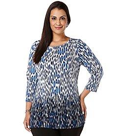 Rafaella Plus Size Cheetah Tunic