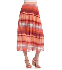 Notations® Pleated Stripe Skirt