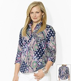 Lauren Ralph Lauren® Plus Size Wrinkle-Free Paisley Dress Shirt