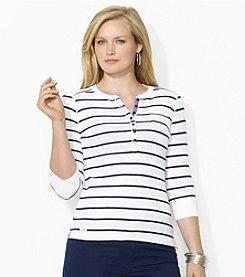 Lauren Jeans Co.® Plus Size Striped Pocket Henley