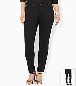 Lauren Jeans Co.® Plus Size Super-Stretch Modern Skinny Black-Wash Jeans