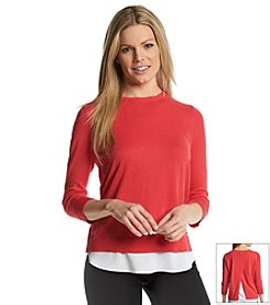 Calvin Klein Double Layer Split Back Sweater