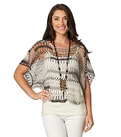 Democracy Open Weave Crochet Sweater