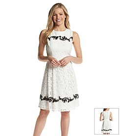 Adrianna Papell® Embroidered Lace Dress