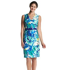 Kasper® Watercolor Floral Dress