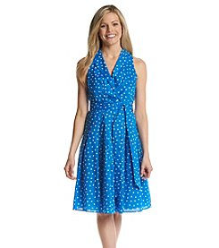 Kasper® Polka Dot Collared Dress