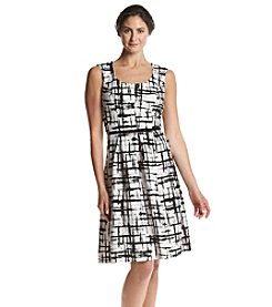 Kasper® Printed Belted Dress