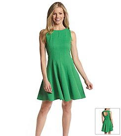 Gabby Skye® Textured Fit And Flare Dress