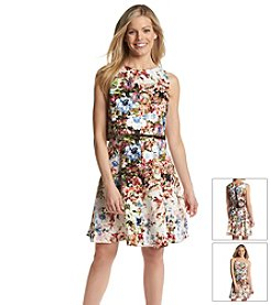 Gabby Skye® Floral Two Piece Pop-Over Dress