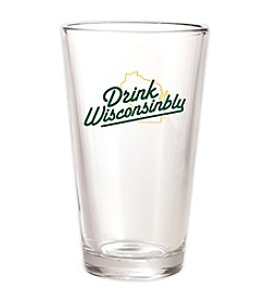 30 Watt Drink Wisconsinbly™ Green and Gold Pint Glass