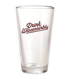 30 Watt Drink Wisconsinbly™ Red and White Pint Glass