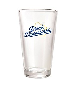 30 Watt Drink Wisconsinbly™ Blue and Gold Pint Glass