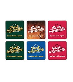 30 Watt Drink Wisconsinbly™ 6-pc. Coaster Set
