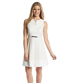 Calvin Klein Scalloped Eyelet Dress