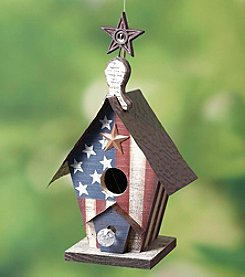 Transpac Art Wooden Americana Birdhouse