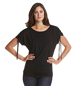 Chaus Shirred Shoulder Top