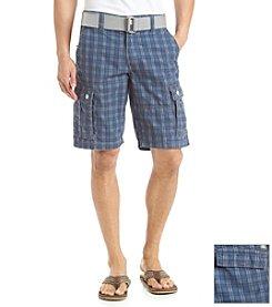 Lazer™ Men's Twill Check Cargo Short