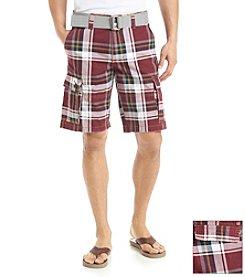 Lazer™ Men's Twill Plaid Cargo Short