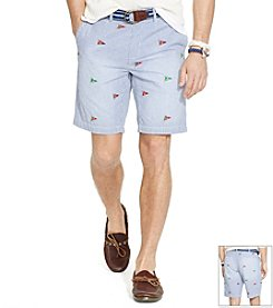 Polo Ralph Lauren® Men's Maritime Seersucker Flat Front Shorts