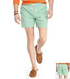 Polo Ralph Lauren® Men's Gingham Traveler Swim Shorts