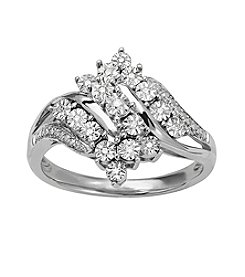 0.0628 ct. t.w. Diamond Ring in Sterling Silver