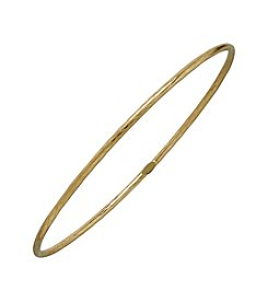 14K Yellow Gold Patterned Bangle