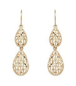 10K Yellow Gold Pear Drop Earrings