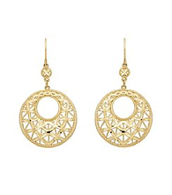10K Yellow Gold Circle Earrings