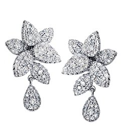 Effy® 0.99 ct. t.w. Diamond Flower Earrings in 14K White Gold