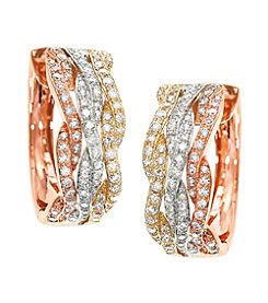 Effy® 0.78 ct. t.w. Diamond Earrings in 14K Gold