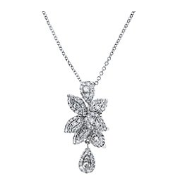 Effy® 0.57 ct. t.w. Diamond Flower Pendant in 14K White Gold