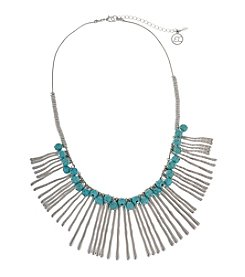 Erica Lyons Silvertone Southwest Sassy Wavy Sticks Bib Necklace