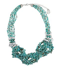 Erica Lyons® Silvertone Braided Multi Strand Statement Necklace
