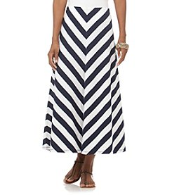 Chaps® Striped Full Maxi Skirt