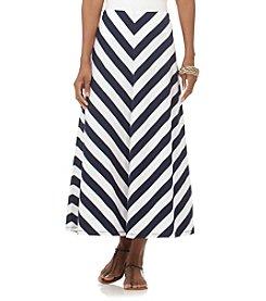 Chaps® Striped Full Maxi Skirt