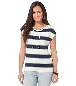 Chaps® Short Sleeve Stripe Sweater