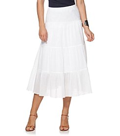 Chaps® Tiered Full Skirt