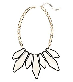 Natasha Goldtone Lucite Statement Necklace