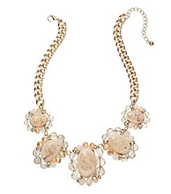 Natasha Goldtone Five Oval Necklace