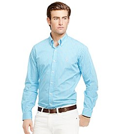 Polo Ralph Lauren® Men's Long Sleeve Striped Poplin