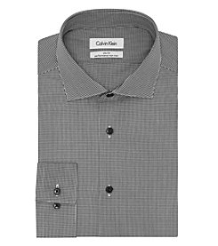 Calvin Klein Steel Men's Slim Fit Check Dress Shirt