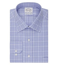 Eagle® Men's Grid Spread Collar Button Down Dress Shirt