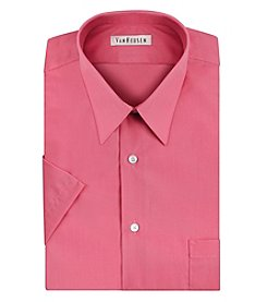 Van Heusen® Men's Short Sleeve Poplin Point Solid Dress Shirt
