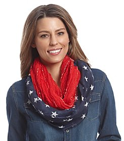 Collection 18® Star Mixed Media Loop Scarf