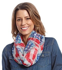 Collection 18 Stars And Stripes Mini Loop Scarf