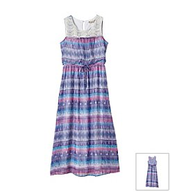 Speechless® Girls' 7-16 Maxi Length Dress With Knit Collar