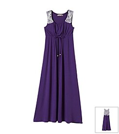 Speechless® Girls' 7-16 Maxi Dress With Knit Accents